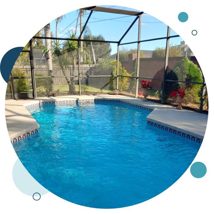View of nice pool